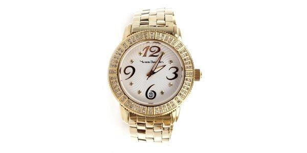 Dámske hodinky zlatej farby Yves Bertelin