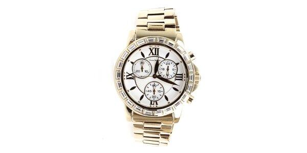 Dámske zlaté hodinky s rímskymi číslicami Yves Bertelin