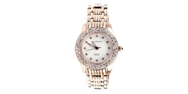Dámske zlaté hodinky s kamienkami Yves Bertelin