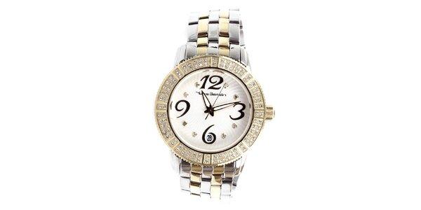 Dámske oceľové hodinky s kamienkami Yves Bertelin
