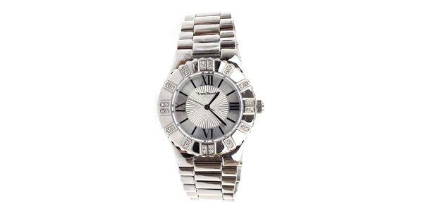 Dámske strieborné hodinky s rímskymi číslicami Yves Bertelin