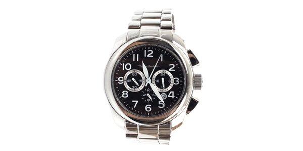 Pánske oceľové hodinky s chronografom a dátumovkou Yves Bertelin