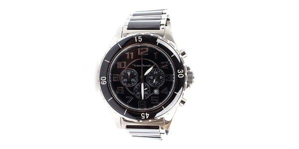 Pánske čierno-strieborné hodinky Yves Bertelin
