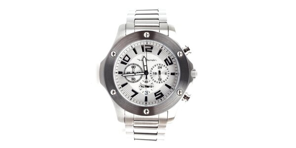 Pánske strieborné hodinky z nerezovej ocele Yves Bertelin