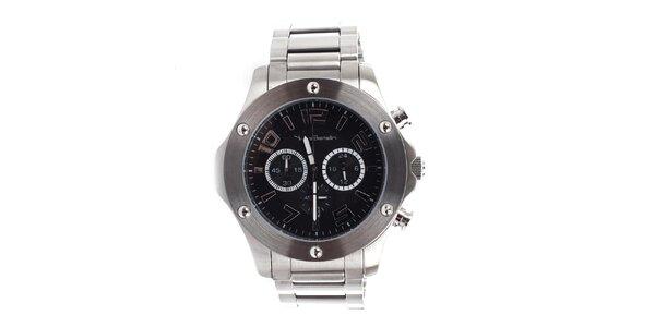 Pánske okrúhle hodinky s chronografom Yves Bertelin