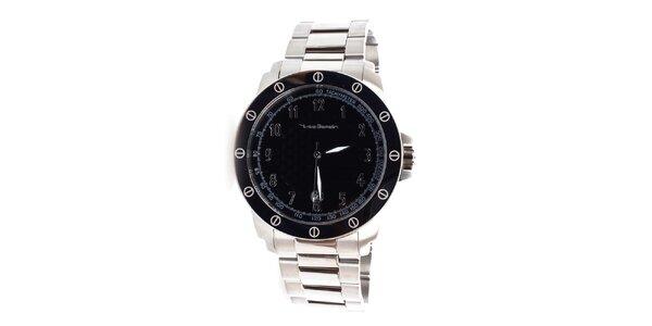 Pánske strieborno-čierne hodinky Yves Bertelin