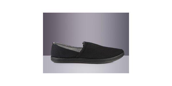 Pánska čierna textilná obuv DEK