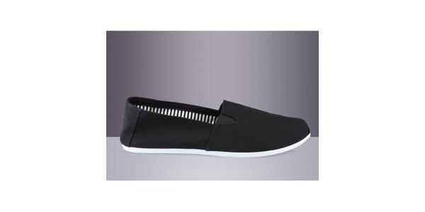Pánske čierne textilné topánky DEK