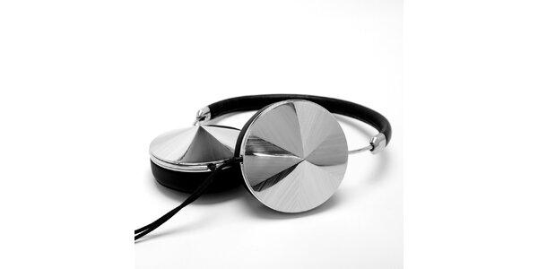 Sluchátka v strieborno-čiernej farbe Frends