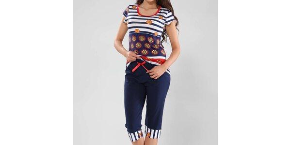 Dámske pyžamo s námorníckym vzorom Fagon