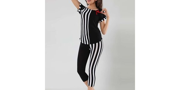 Dámske čierno-biele pyžamo Fagon