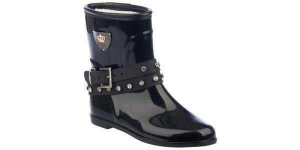 Dámske čierne topánky s prackou okolo kotníku Keddo