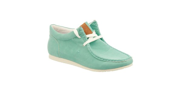 Dámske zelené topánky s prešívanou špičkou Keddo