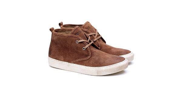 Pánske hnedé semišové topánky Shoe the Bear