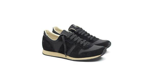 Pánske čierne semišové tenisky Shoe the Bear