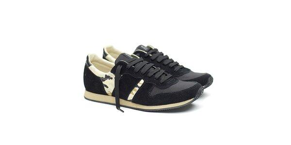 Pánske čierne tenisky s maskáčovými prvkami Shoe the Bear