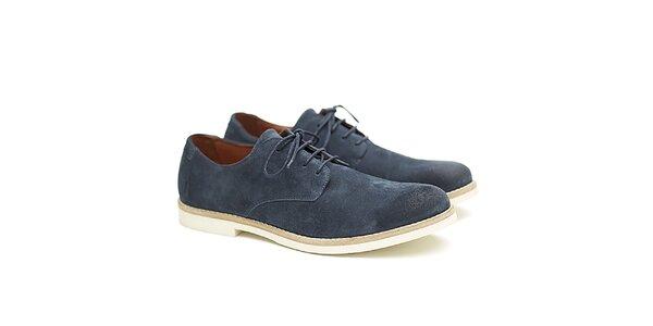 Pánske modré kožené poltopánky Shoe the Bear