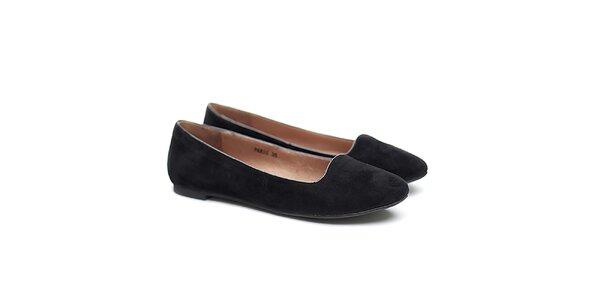 Dámske čierne semišové balerínky Shoe the Bear