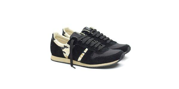 Dámske čierne športové tenisky s maskáčovým vzorom Shoe the Bear