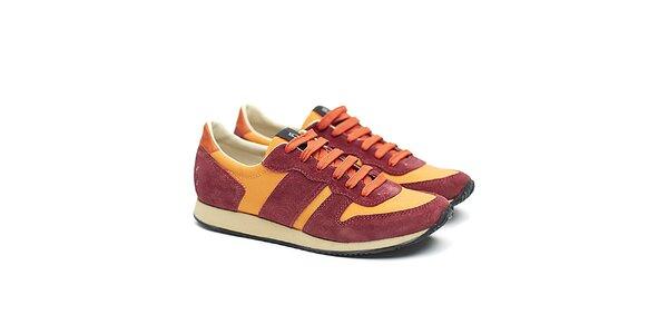 Dámske červeno-oranžové športové tenisky Shoe the Bear