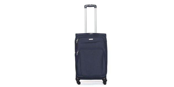 Stredne veľký modrý cestovný kufor Ravizzoni