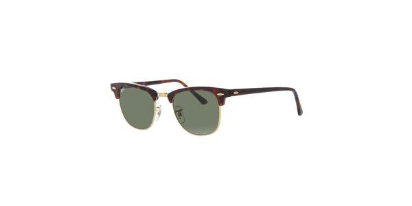 Hnedo žíhané slnečné okuliare Ray-Ban