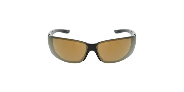 Čierne športové slnečné okuliare s hnedými sklami Red Bull