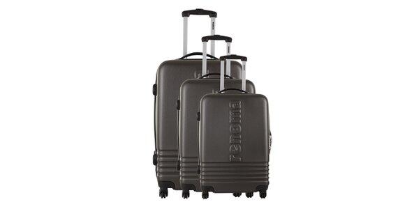 Sada troch šedých kufrov Renoma