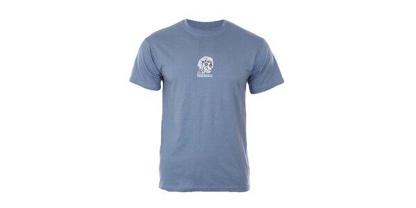 Pánske modré tričko s potlačou Respiro