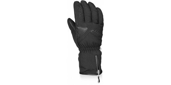 Pánske čierne lyžiarske rukavice Reusch s membránou