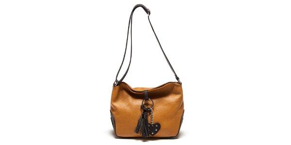 Dámska koňaková kabelka so strapcom Carla Ferreri