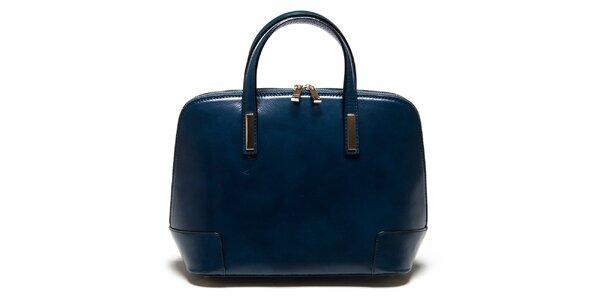 Dámska modrá kufríková kabelka Carla Ferreri