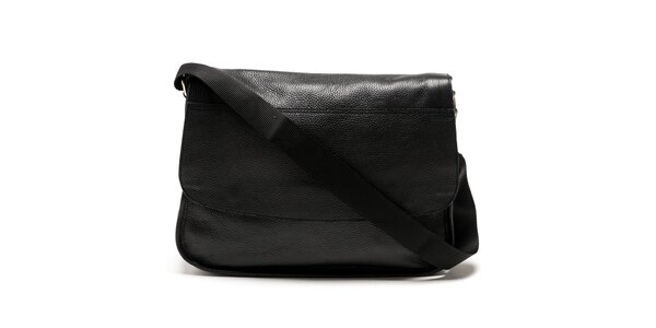 Dámska čierna messenger kabelka Carla Ferreri