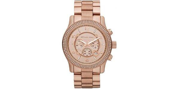 Dámske ružovo zlaté hodinky Michael Kors