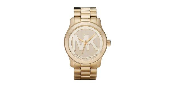 Dámske hodinky z ušľachtilej ocele v zlatej farbe Michael Kors