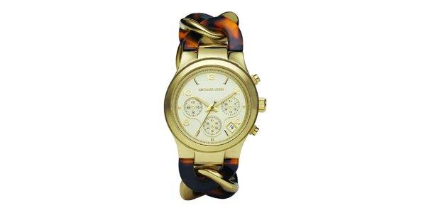 Dámske hodinky s kombinovaným náramkom Michael Kors