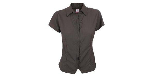 Dámska hnedá funkčná košeľa Hannah