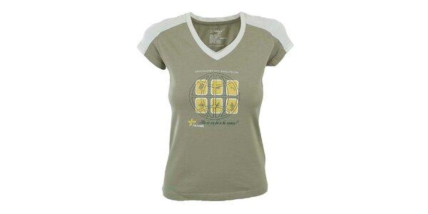 Dámske béžové tričko s potlačou Hannah