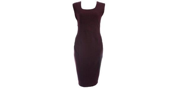 Dámske vínové púzdrové šaty JDC London