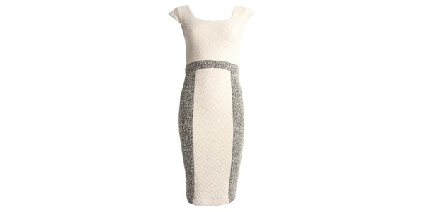 Dámske krémové púzdrové šaty bez rukávov JDC London