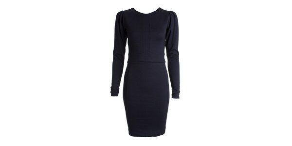 Dámske tmavo modré šaty s dlhými rukávmi JDC London