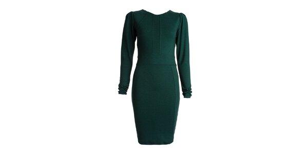 Dámske zelené šaty s dlhými rukávmi JDC London