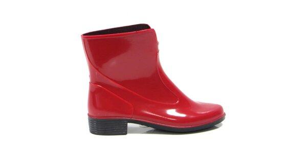 Dámske červené členkové topánky Favolla