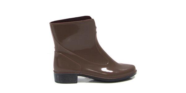 Dámske hnedé členkové topánky Favolla