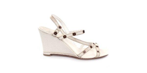Dámske krémovo biele sandálky na kline Levi's