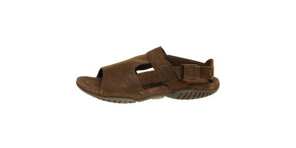 Pánske hnedé kožené sandále Levis