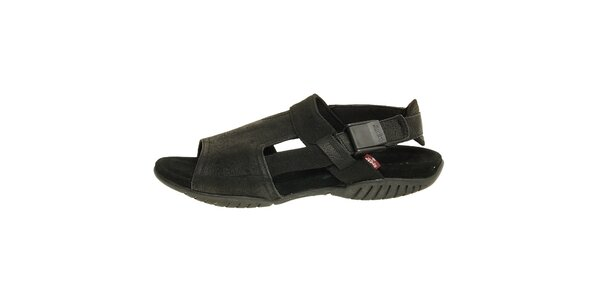 Dámske čierne kožené sandále Levis