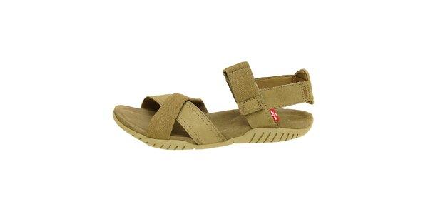 Dámske khaki sandále Levis