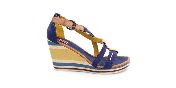 Dámske viacfarebné sandále na kline Levi's