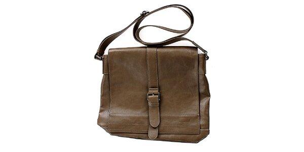 Unisex hnedá kabelka cez rameno Levis s prackou